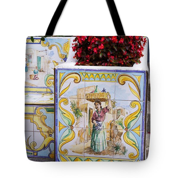 A Cool Seat On Capri Tote Bag