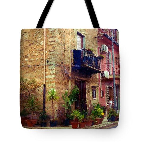 A Corner In Sicily Tote Bag