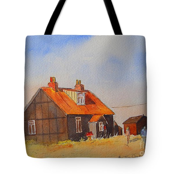 Tote Bag featuring the painting A Corner Of Dungeness by Beatrice Cloake