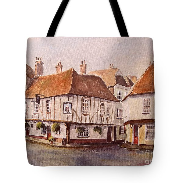 Tote Bag featuring the painting A Corner Of Sandwich by Beatrice Cloake