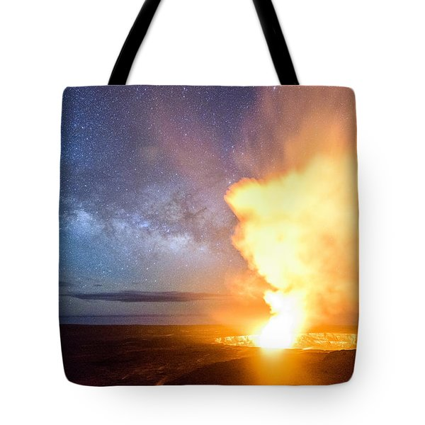 A Cosmic Fire Tote Bag