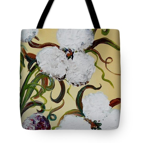 A Cotton Pickin' Couple Tote Bag by Eloise Schneider
