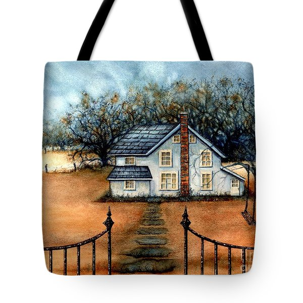 A Country Home Tote Bag by Janine Riley