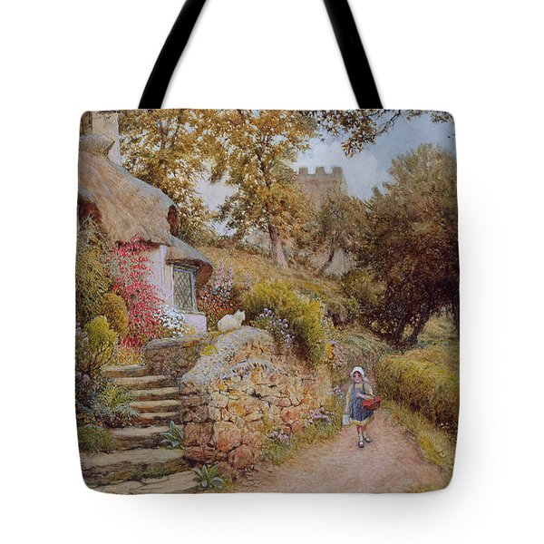 A Country Lane Tote Bag by Arthur Claude Strachan
