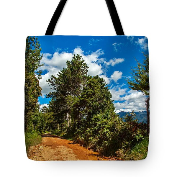 A Country Road In Colombia. Tote Bag by Jess Kraft