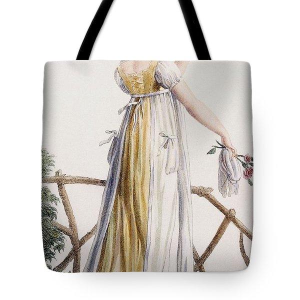 A Country Style Ladies Dress Tote Bag by Pierre de La Mesangere