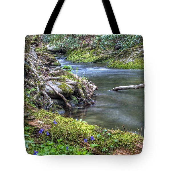 A Creek Side Hike Tote Bag