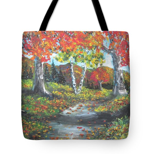 A Crisp Afternoon Tote Bag by Megan Walsh
