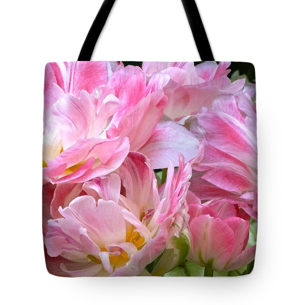 A Crowd Of Tulips Tote Bag
