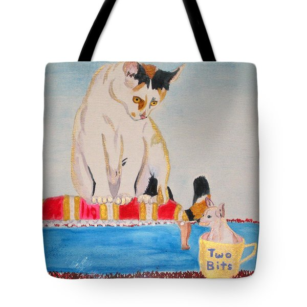 Tote Bag featuring the painting A Cup Of Chihuahua by Phyllis Kaltenbach
