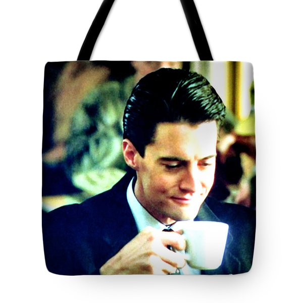 A Damn Fine Cup Of Coffee Tote Bag by Luis Ludzska