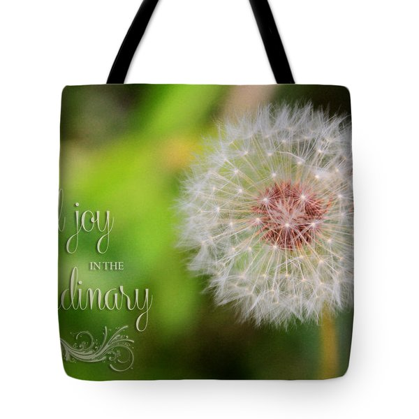 A Dandy Dandelion With Message Tote Bag