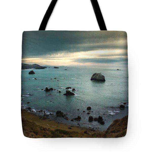 A Dark Day At Sea Tote Bag