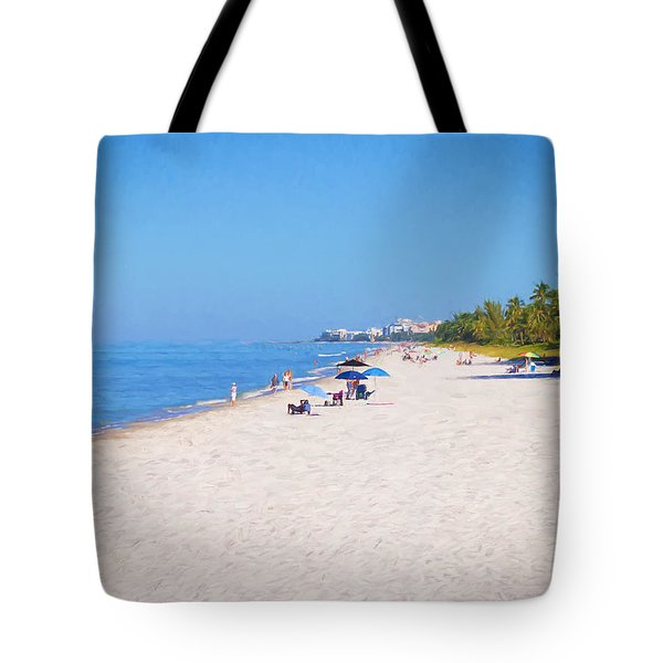 A Day At Naples Beach Tote Bag