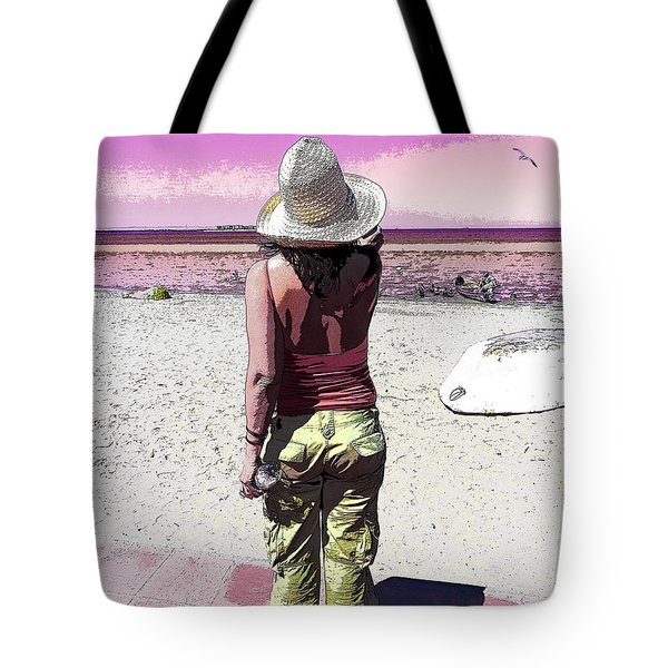 A Day At The Beach Tote Bag by Anne Mott