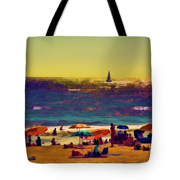 A Day At The Beach Tote Bag by Billie-Jo Miller