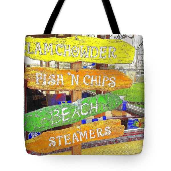 A Day At The Beach Tote Bag by Kris Hiemstra