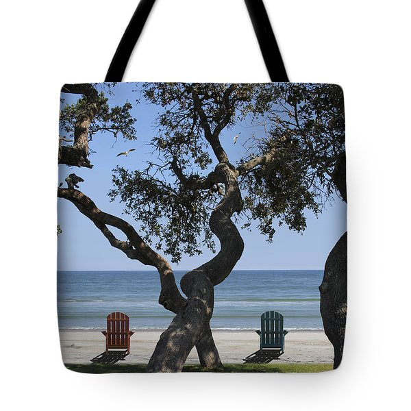 A Day At The Beach Tote Bag by Mike McGlothlen