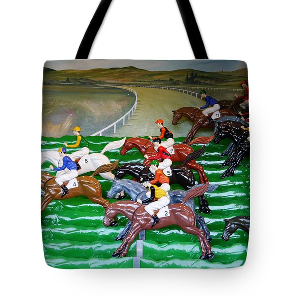A Day At The Races Tote Bag by Richard Reeve