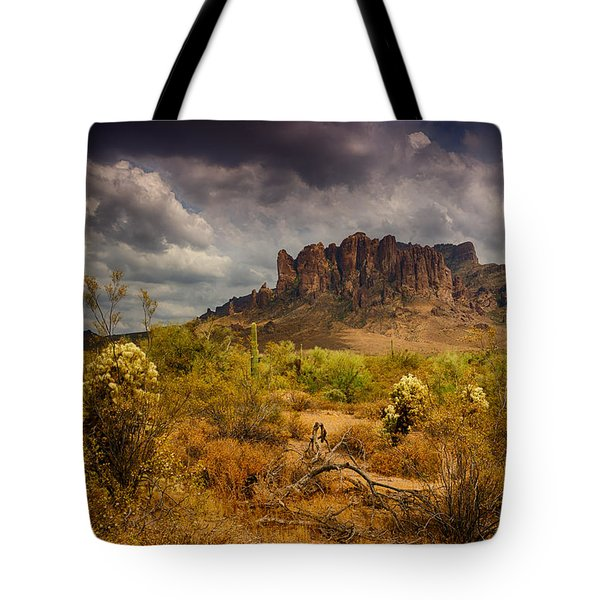 A Day At The Superstitions  Tote Bag