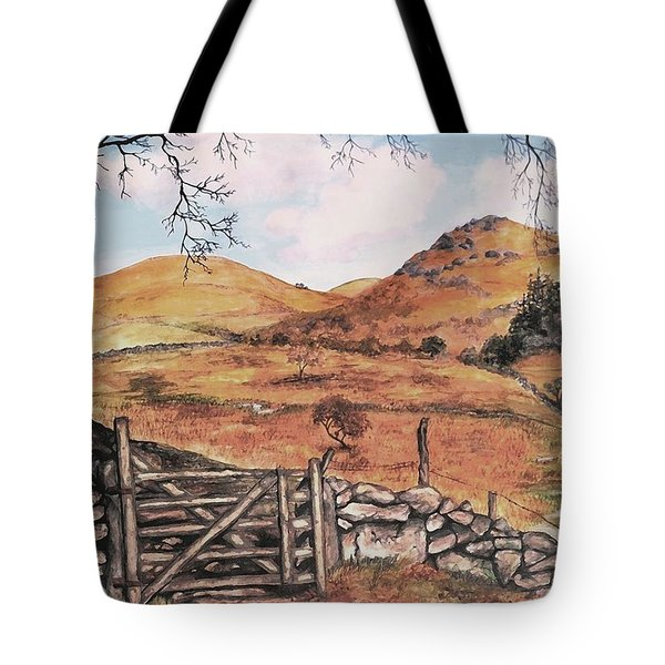 Tote Bag featuring the painting A Day In The Country by Sophia Schmierer