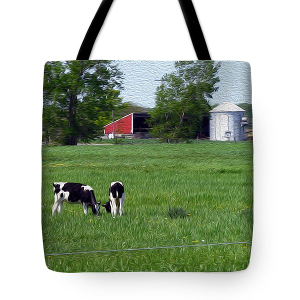 A Day In The Life - Digital Painting Effect Tote Bag by Rhonda Barrett