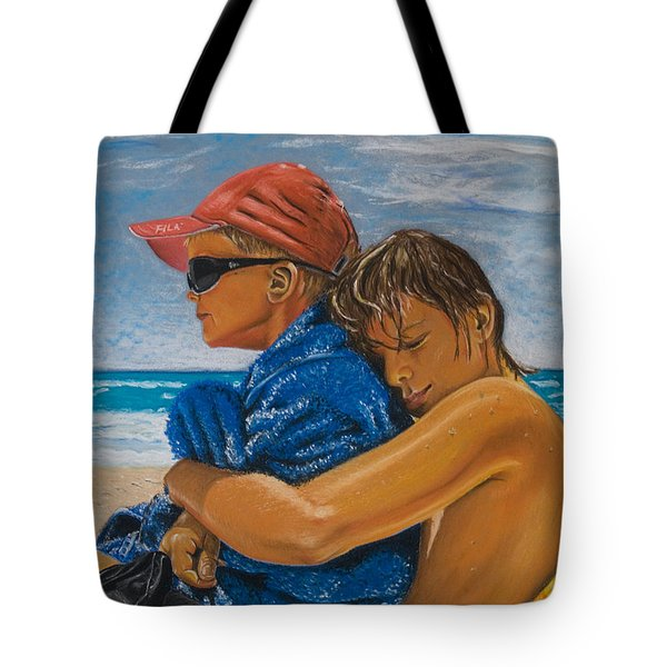 A Day On The Beach Tote Bag by Katharina Filus