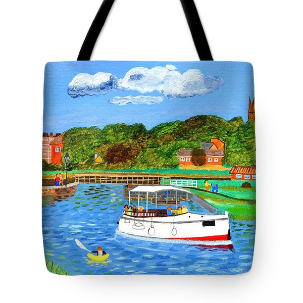 Tote Bag featuring the painting A Day On The River by Magdalena Frohnsdorff