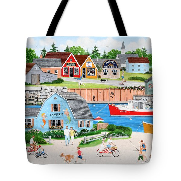 A Day With Dad Tote Bag by Wilfrido Limvalencia
