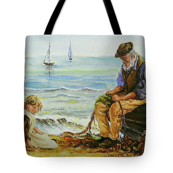 A Day With Grandad Tote Bag by Andrew Read