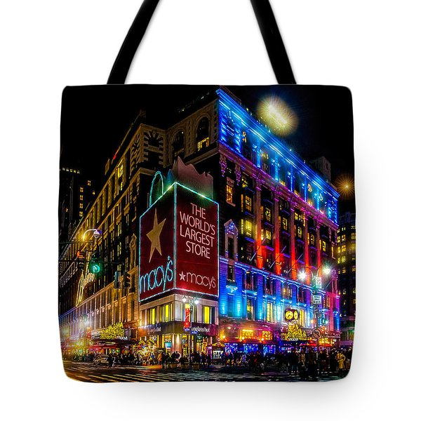 A December Evening At Macy's  Tote Bag