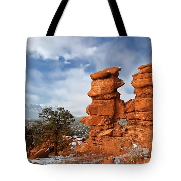 A December Morning Tote Bag by Ronda Kimbrow