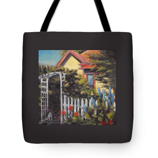 A Delphinium Welcome Tote Bag