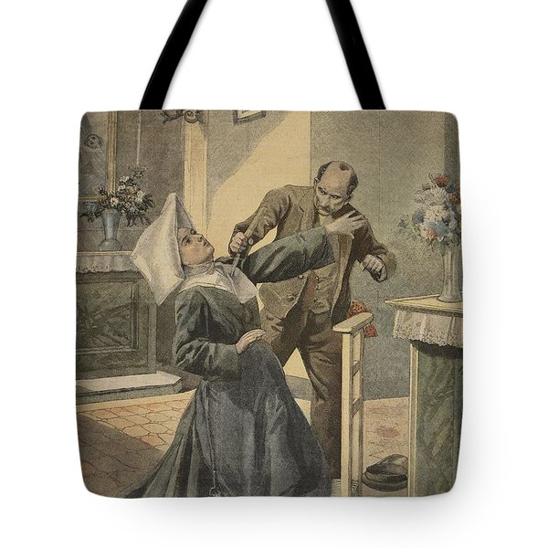 A Drama In An Asylum Assassination Tote Bag by French School