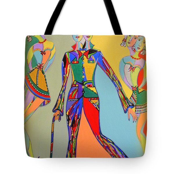 Tote Bag featuring the painting Men's Fantasy by Marie Schwarzer