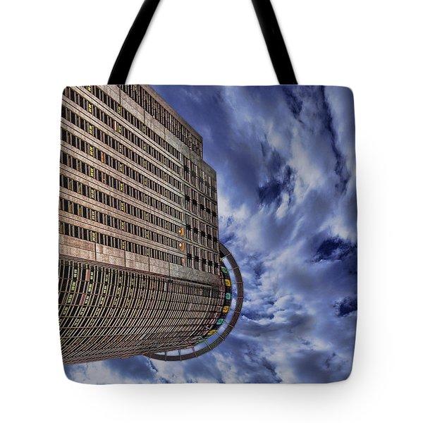 A Drifting Skyscraper Tote Bag by Ron Shoshani