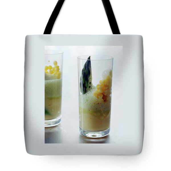 A Drink With Asparagus Tote Bag by Romulo Yanes