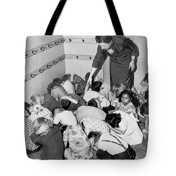 A Duck And Cover Exercise In A Kindergarten Class In 1954 Tote Bag