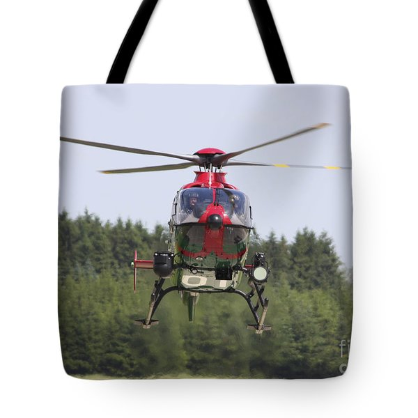 A Eurocopter Ec135 Used By German Tote Bag by Timm Ziegenthaler