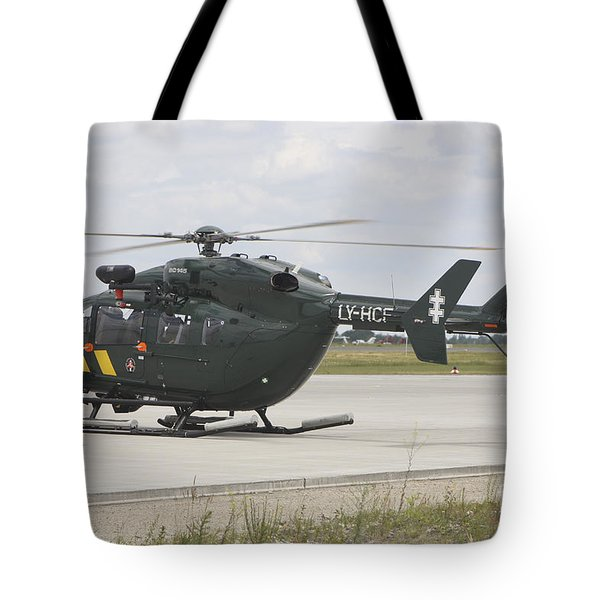 A Eurocopter Ec145 Helicopter Tote Bag by Timm Ziegenthaler