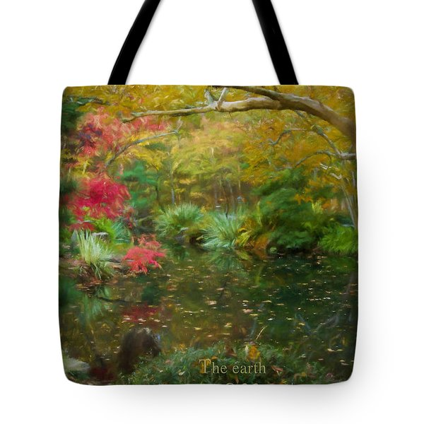 A Fall Afternoon With Message Tote Bag