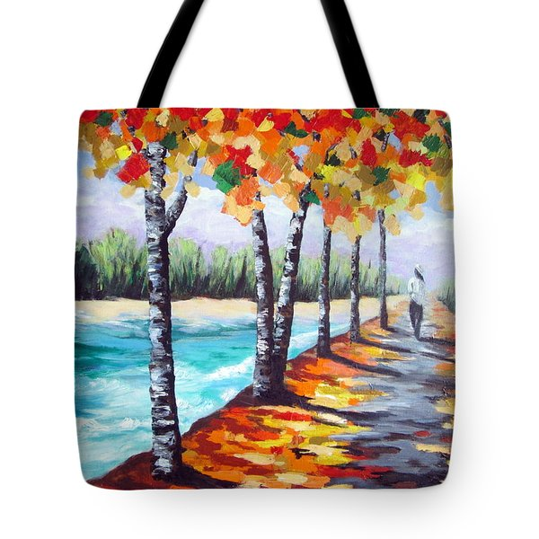 A Fall Stroll Tote Bag