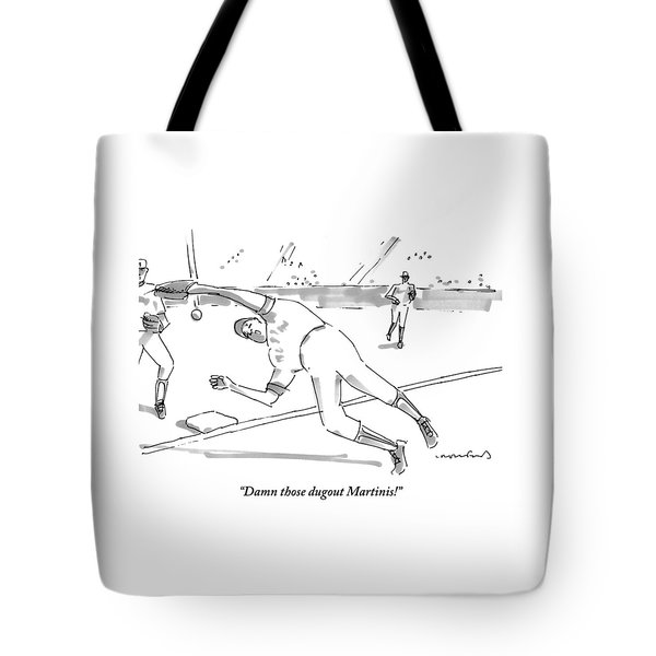 A Falling Baseball Player Fails To Catch A Ball Tote Bag