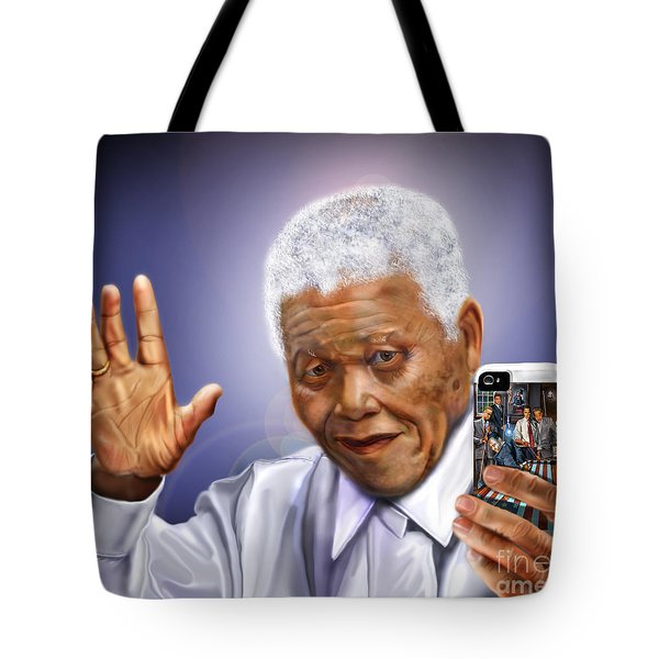 A Farewell Selfie To The World - Nelson Mandela  Tote Bag