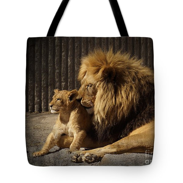 Tote Bag featuring the photograph A Father's Love by Inge Riis McDonald