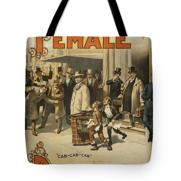 A Female Drummer Tote Bag by Aged Pixel