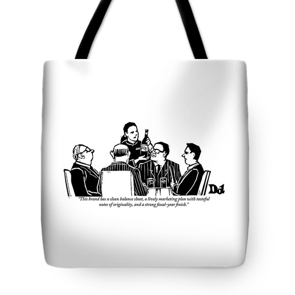 A Female Sommelier Presents A Bottle Of Wine Tote Bag