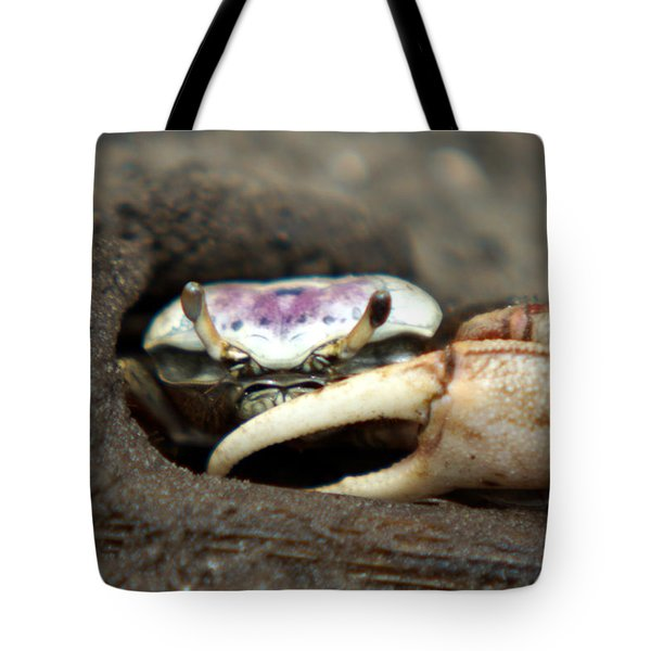 A Fiddler Crab Around Hilton Head Island Tote Bag by Kim Pate