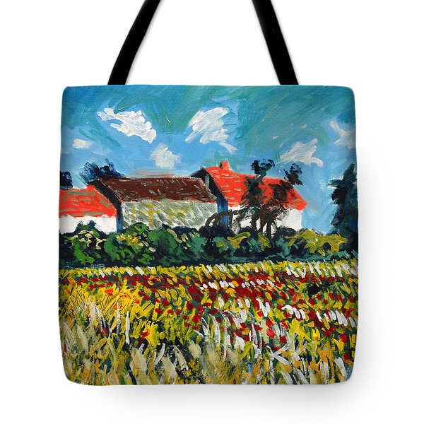 A Field In France Tote Bag