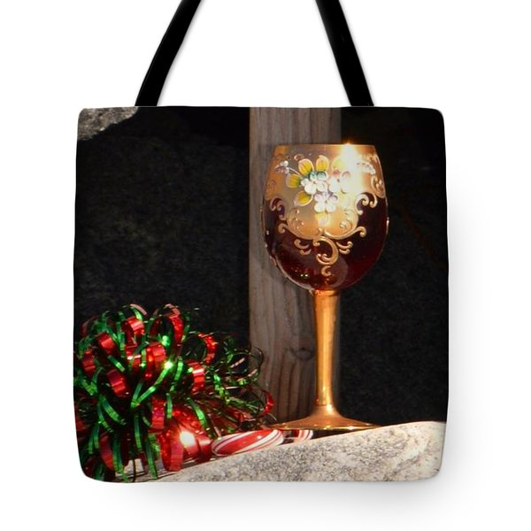Tote Bag featuring the photograph A Fine Beach Christmas by Laurie L
